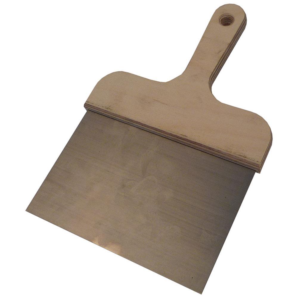 Spatola quadrata - acciaio flessibile per utensili - larghezza lamiera da 160 a 200 mm - manico in compensato impermeabile