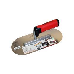 "Glättekelle ""SUPERGLATT 1"" - Edelstahl rostfrei - Blattlänge 280 mm - Blattbreite 130 mm - 2K-Softgriff"