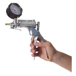 VacuMan Druck- und Vakuumpumpe - mit Manometer - einhändig bedienbar - PVC oder Aluminium - Anschluss für Schläuche mit Innen-Ø 6,4 mm