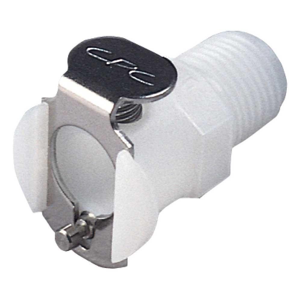 CPC Kupplung - NW 3,2 mm - POM oder PP - Mutterteile - mit Ventil - Schlauchkupplung mit Außengewinde - verschiedene Ausführungen