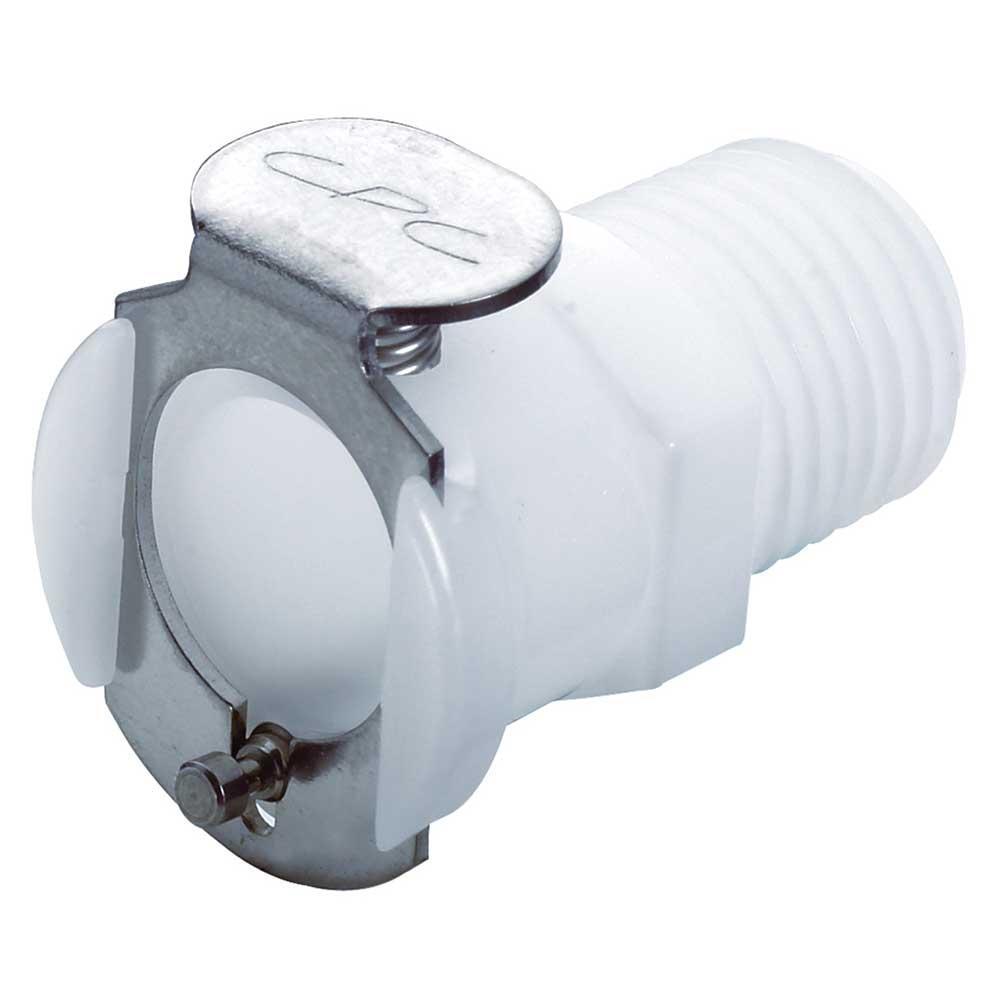 CPC Kupplung - NW 6,4 mm - POM oder PP - Mutterteile - mit und ohne Ventil - Schlauchkupplung mit Außengewinde - verschiedene Ausführungen