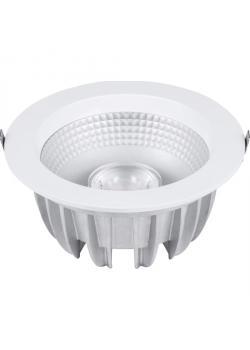 """downlight LED """"PURE"""" - Centre de fixation 68-225 mm - profondeur de montage 56-100 mm - Puissance 10 - 50 W - flux lumineux 600-4000 lm"""