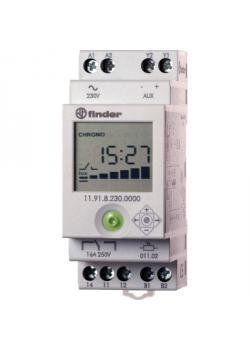 REG-Dämmerungsschalter mit Zeitschaltuhr - 230 V AC, 16 A - Einstellbereich 2 - 150 Lux