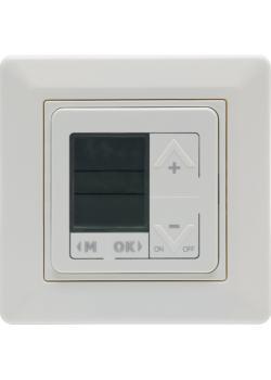 UP-Zeitschalteruhr mit Rahmen - 230 V, 50 Hz - Schaltleistung 10 A - mit Display