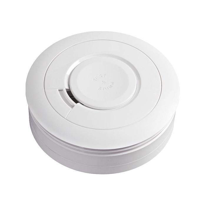 Rauchmelder Ei650C - Maße (Ø x H) 115 x 45 mm - draht- und funkvernetzbar - inkl. Lithium-Batterie