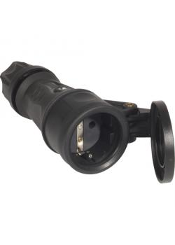 SIROX® XL Vollgummikupplung mit Feder-Klappdeckel - Nennspannung 250 V - Nennstrom 16 A - Schutzart IP 44 - diverse Farben