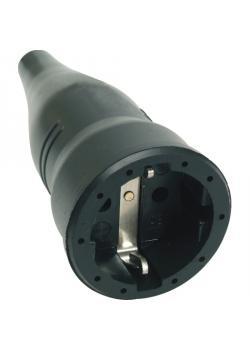 Gummikupplung mit Kunststoffeinsatz - Nennspannung 250 V - Schutzart IP 20 - schwarz