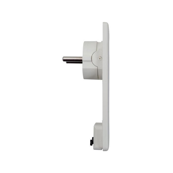 Kunststoff-Schutzkontaktstecker - flache Ausführung - Leitungsquerschnitt von 0,75 bis 1,5 mm²