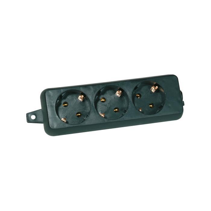 3-fach Schutzkontakt-Tischsteckdosen - Nennspannung 250 V - Nennstrom 16 A - Schutzart IP 20 - ohne Zuleitung