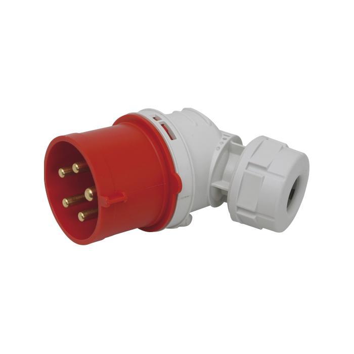 SIROX® CEE-Winkelstecker - 5-polig - Nennspannung 400 V - Nennstrom 16 bzw 32 A - Schutzart IP 44