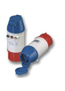 SIROX® Drehfeld-Prüfstecker - 5-polig - Nennspannung 400 V - Nennstrom 16 bzw. 32 A - Schutzart IP 44