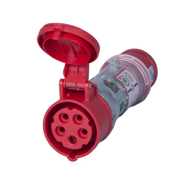 SIROX® CEE-Strommessstecker - 5-polig - Nennspannung 400 V - Nennstrom 16 A - mit und ohne LED-Drehfeldanzeige