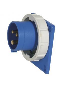 SIROX® CEE-Anbaugerätestecker - 3-polig - Nennspannung 230 V - Nennstrom 16 A - Schutzart IP 67 - Flanschmaß 75 x 75 mm - Befestigungslöcher - 60 x 60 mm
