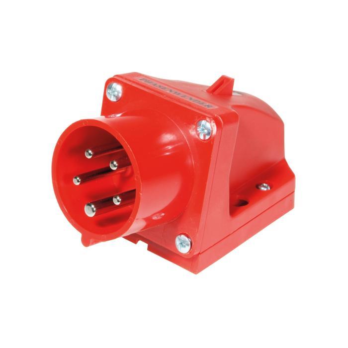 SIROX® CEE-Wandgerätestecker - 5-polig - Nennspannung 400 V - Nennstrom 16 bzw. 32 A - Schutzart IP 44 bzw. 67 - rot