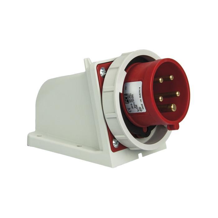 SIROX® CEE-Wandgerätestecker - 5-polig - Nennspannung 400 V - Nennstrom 16 bzw. 32 A - Schutzart IP 67 - rot