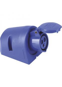 SIROX® CEE-Wanddose - 3-polig - Nennspannung 230 V - Nennstrom 16 bzw. 32 A - Schutzart IP 44 - blau