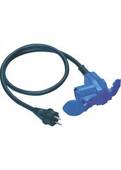 Adapterleitung mit Schutzkontaktstecker auf Kupplung - mit Steckdose - 3-polig - Nennspannung 230 V - Nennstrom 16 A