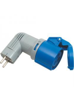 Schutzkontakt-Adapterstecker - speziell für Niederlande - 3-polig - Nennspannung 230 V - Nennstrom 16 A