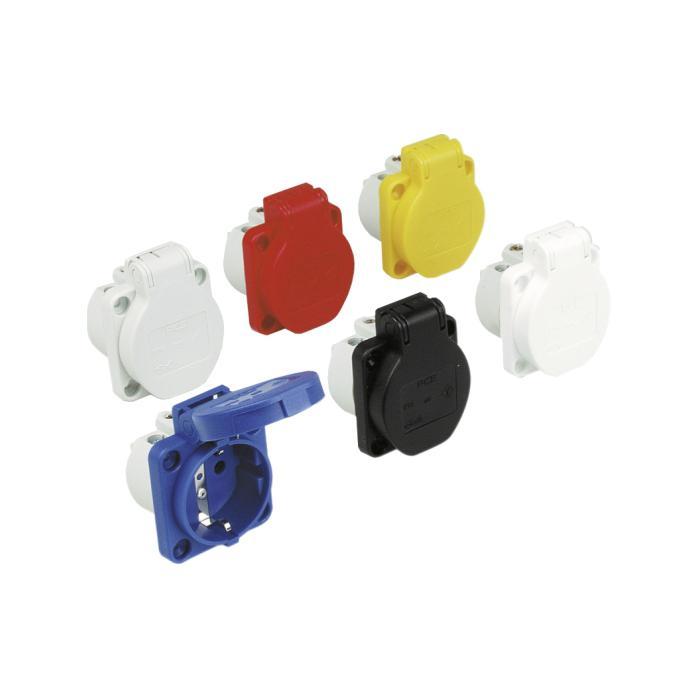 SIROX® Schutzkontakt-Einbausteckdosen - Nennspannung 250 V, AC - Nennstrom 10 / 16 A - Schutzart IP 54 - verschiedene Farben
