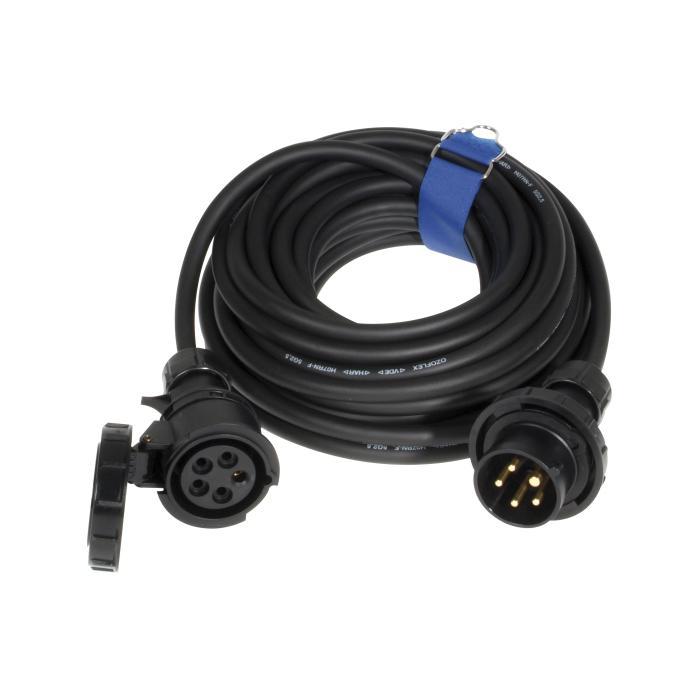 SIROX® CEE-Verlängerung - 5-polig - Nennspannung 400 V - Nennstrom 16 A - Schutzart IP 44 bzw. IP 67 - schwarz