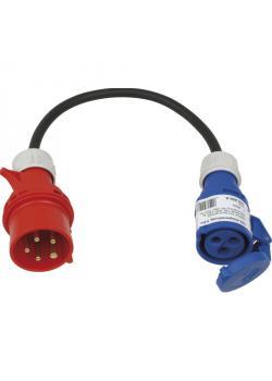SIROX® Adapterleitung - Stecker 5-polig, Kupplung 3-polig - Nennspannung Stecker 400 V - Nennspannung Kupplung 230 V - Nennstrom 16 A - Schutzart IP 44