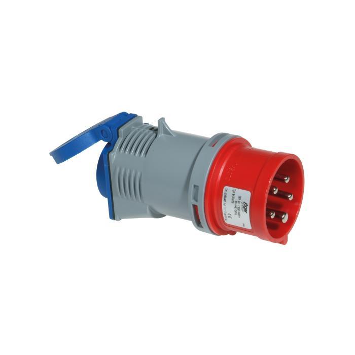 CEE-Adapterstecker - 5-polig - Nennspannung 400 V - Nennstrom 16 A - Kupplung 230 V oder 400 V - Schutzart IP 44