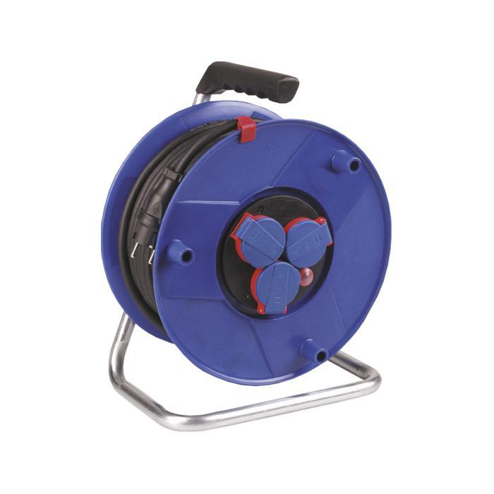 Kunststoffkabeltrommel - mit schwerer Gummischlauchleitung - Trommel-Ø 290 mm