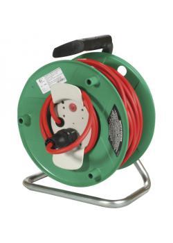 Kunststoffverlängerungstrommel - Schutzkontakt-Ausführung - Trommel-Ø 290 mm