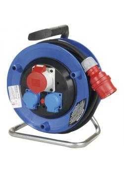 CEE-Kunststoffkabeltrommel - 400 V-Ausführung - mit schwerer Gummischlauchleitung - Schutzart IP 44