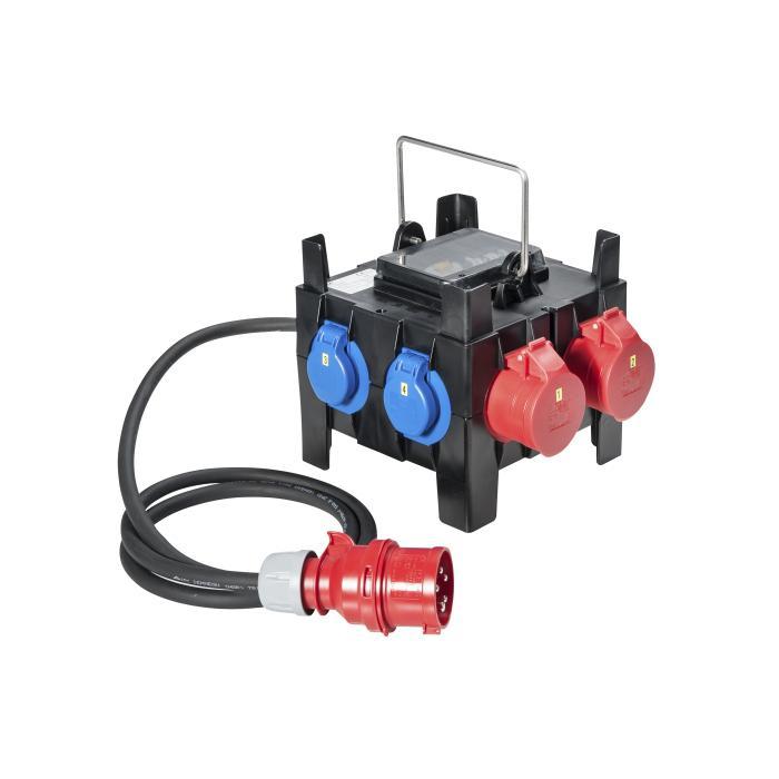 """Kunststoffkleinverteiler """" Kappel"""" - mit 3 bzw. 5 Steckdosen 230 V - mit und ohne FI-Schalter"""