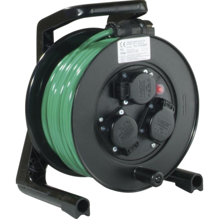 Kabelvinda JUMBO® - 3 uttag - 230 V - 16 A - 25 m PUR-kabel