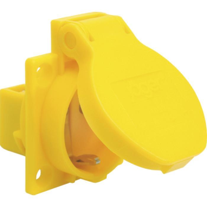 SIROX® Schutzkontakt-Einbausteckdose - Nennspannung 250 V AC - Nennstrom 10 / 16 A - Schutzart IP 54 - Flanschmaß 50 x 50 mm