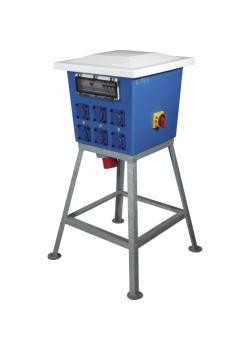 """Kunststoff-Standverteiler """"Quatro"""" - mit 6 Steckdosen 230 V - mit Hauptschalter 63 A, 4-polig"""