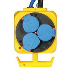 CEE-Pendel-Stromverteiler - 5-polig - mit 3 Schutzkontakt-Steckdosen - Schutzart IP 44