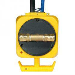 Druckluft-Pendel-Stromverteiler - mit 3 Schutzkontakt-Steckdosen 230 V, 16 A