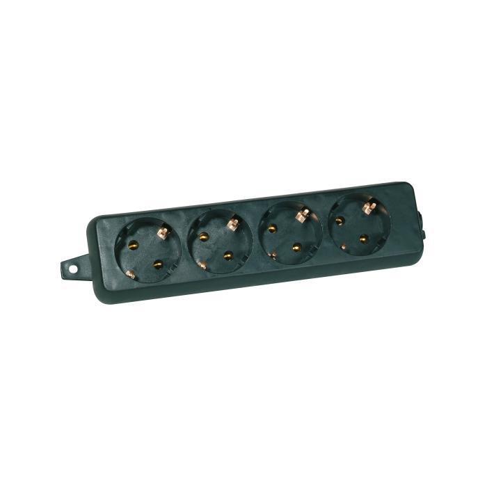 4-fach Schutzkontakt-Tischsteckdose - Nennspannung 250 V - Nennstrom 16 A - Schutzart IP 20 - ohne Zuleitung