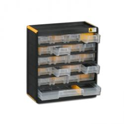 Kleinteilemagazin VarioPlus Original 32 - mit 21 Schubladen - Außenmaße (B x T x H) 300 x 135 x 335 mm