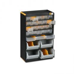 Kleinteiledepot VarioPlus Depot P 36 - mit 18 Schubladen und 4 Sichtboxen - Außenmaße (B x T x H) 300 x 165 x 480 mm
