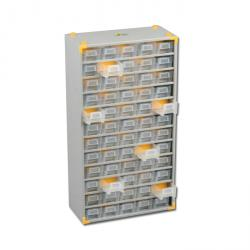 Metal small parts magazine VarioPlus metal 90 - with 60 drawers - Dimensions (W x D x H) 300 x 140 x 565 mm