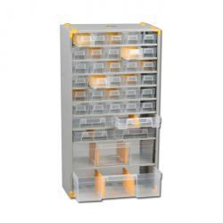 Metall-Kleinteiledepot VarioPlus Depot M 52 - mit 36 Schubladen - Außenmaße (B x T x H) 300 x 140 x 565 mm
