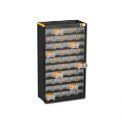 Kleinteilemagazin VarioPlus Original 75 - mit 50 Schubladen - Außenmaße (B x T x H) 300 x 135 x 525 mm