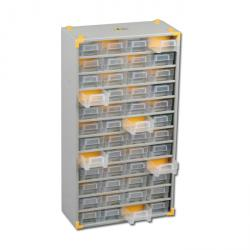 Metal small parts magazine VarioPlus metal 73 - with 48 drawers - Dimensions (W x D x H) 300 x 140 x 565 mm