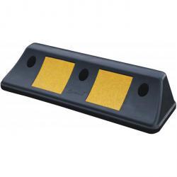 Radstop - längd 500 mm - höjd 100 mm - Material PVC - svart / gul