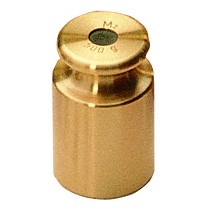 Test Vægt M 1 - 1 g op til 10 kg - knap form - fint drejet messing