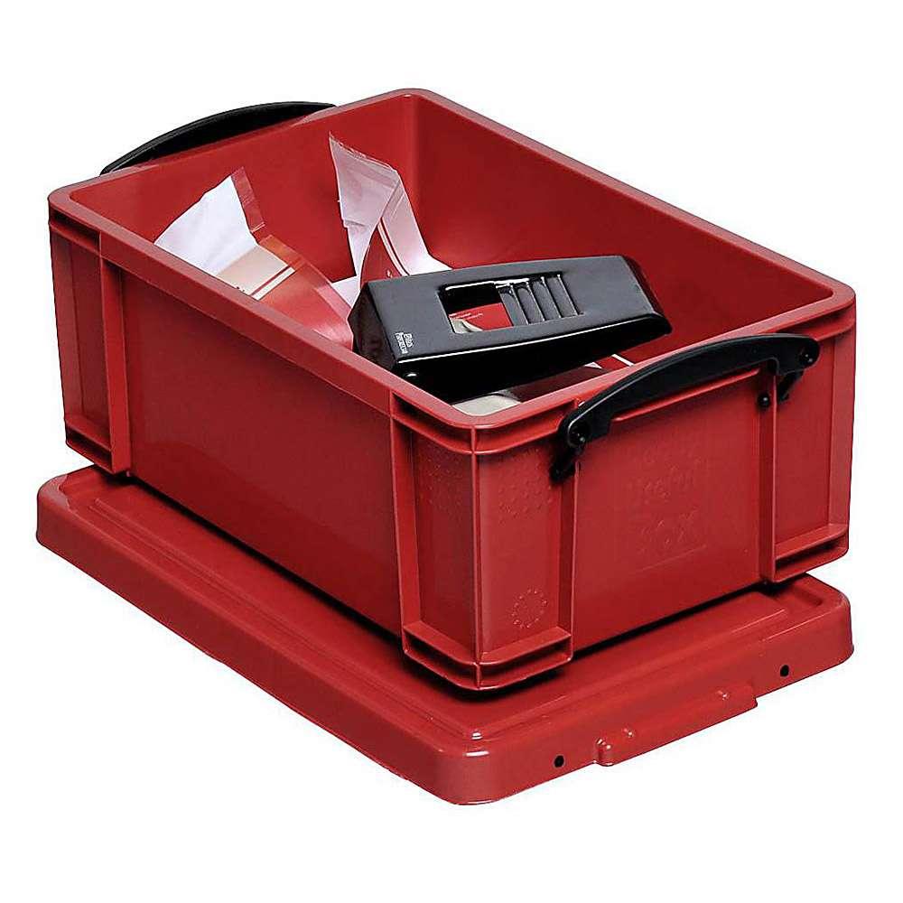 aufbewahrungsboxen mit deckel volumen 9 bis 84 l kunststoff rot. Black Bedroom Furniture Sets. Home Design Ideas