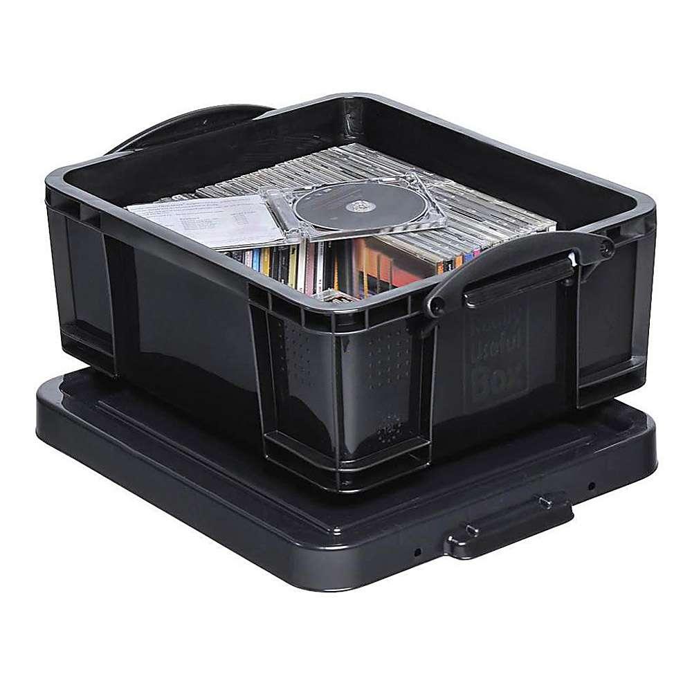 aufbewahrungsbox mit deckel volumen 9 bis 84 l kunststoff schwarz. Black Bedroom Furniture Sets. Home Design Ideas