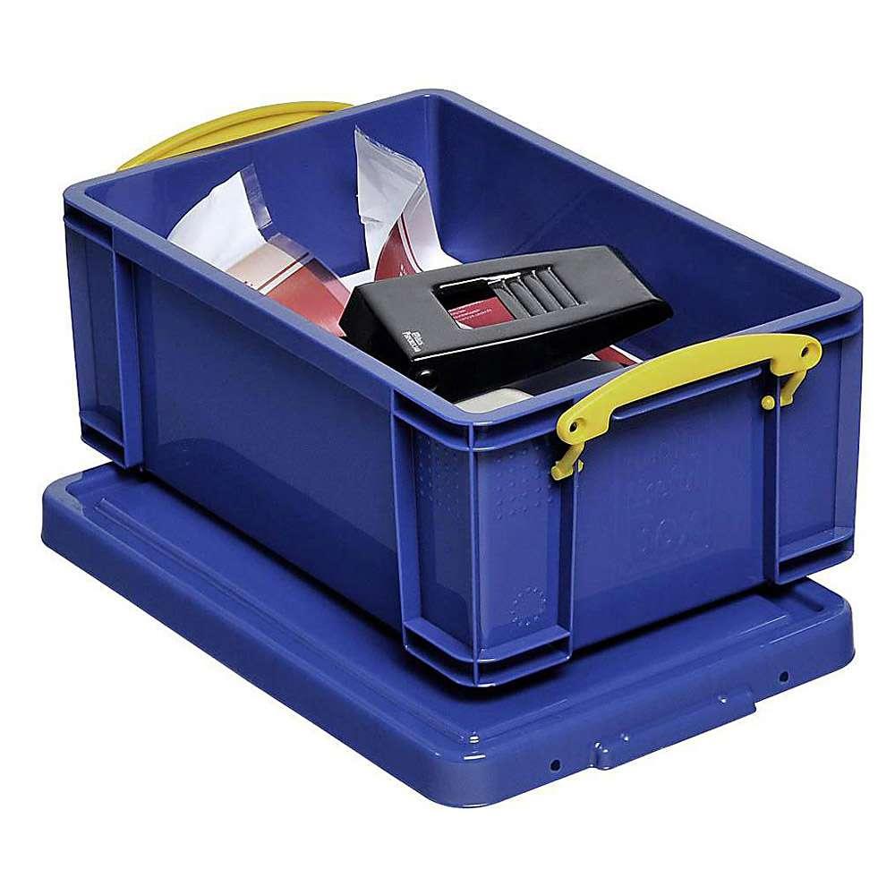 bo tes de rangement avec couvercle volume 9 84 l plastique bleu. Black Bedroom Furniture Sets. Home Design Ideas