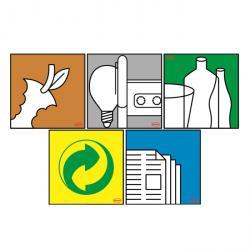 Sticker kit - för Graf® universalbehållare - 5 symboler