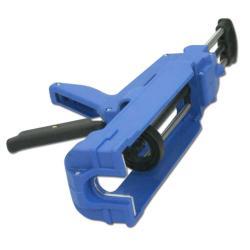 2K-Handpresse - Kartuschenlänge 185 mm - für hochviskose Medien (Epoxy), Mischverhältnis 10:1 - blau