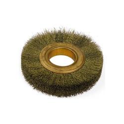 Rund borste - gnistbildning - med Zinnbronzedrahtbesatz, korrugerade - diameter 150 mm